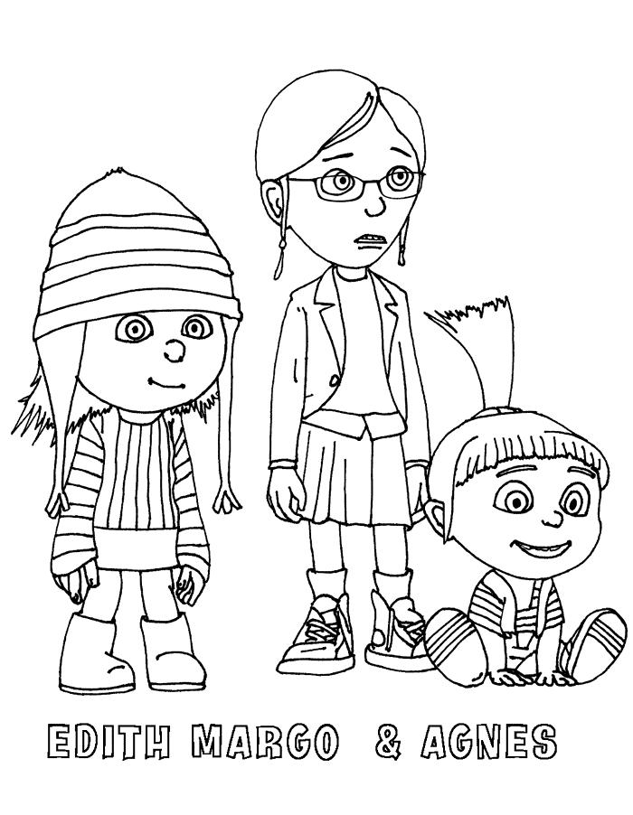 Margo, Edith i Agnes Kolorowanki Kolorowanki Jak ukraść księżyc
