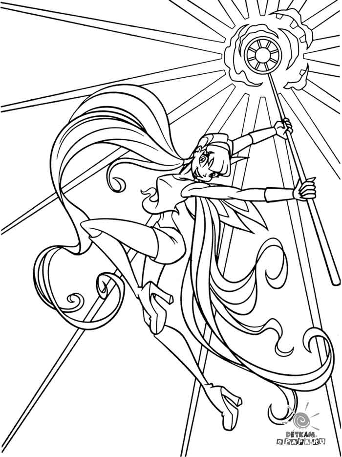 Winks Club Coloring Pages