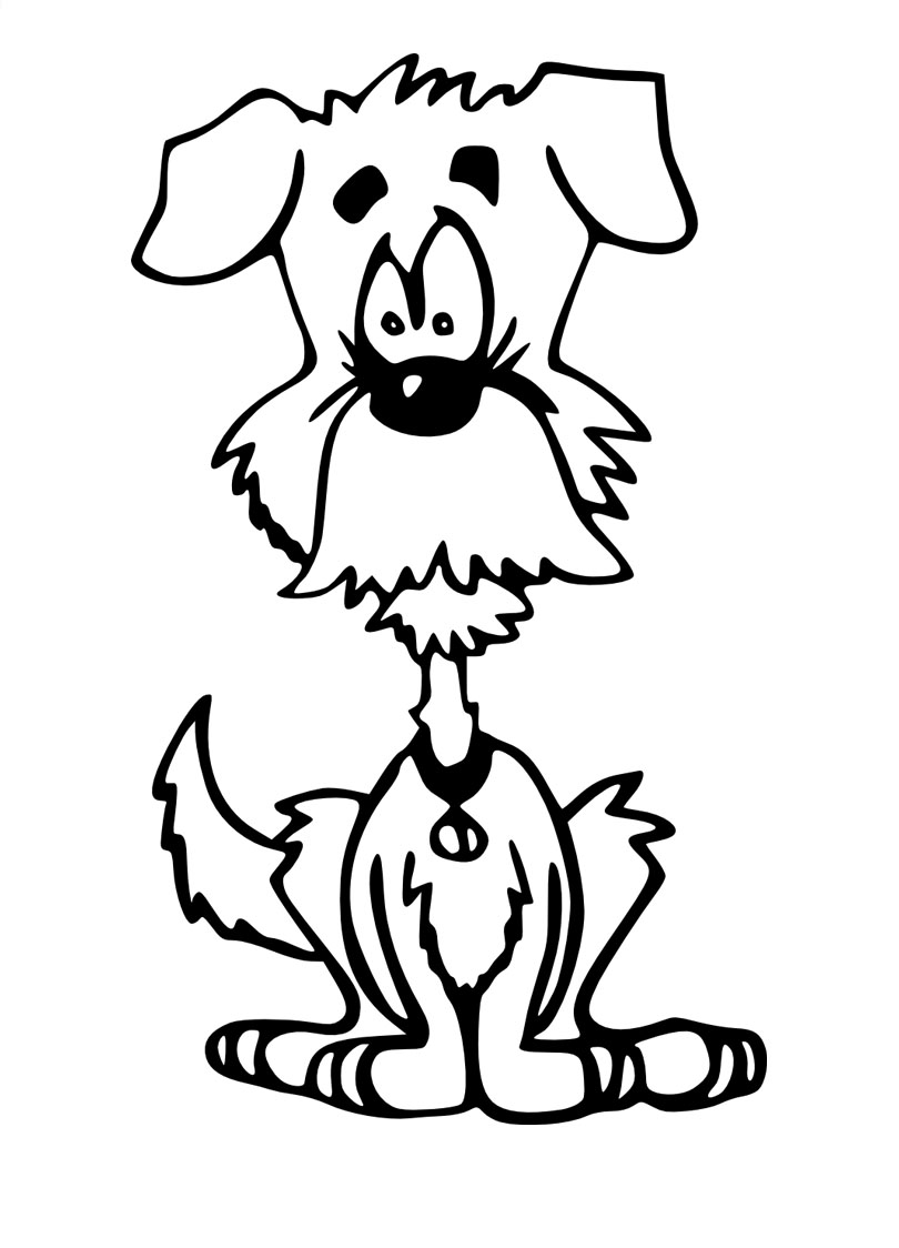 Kolorowanka piesek Kolorowanki Psy