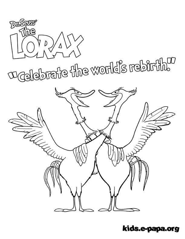 Swomee Swan Kolorowanki Lorax