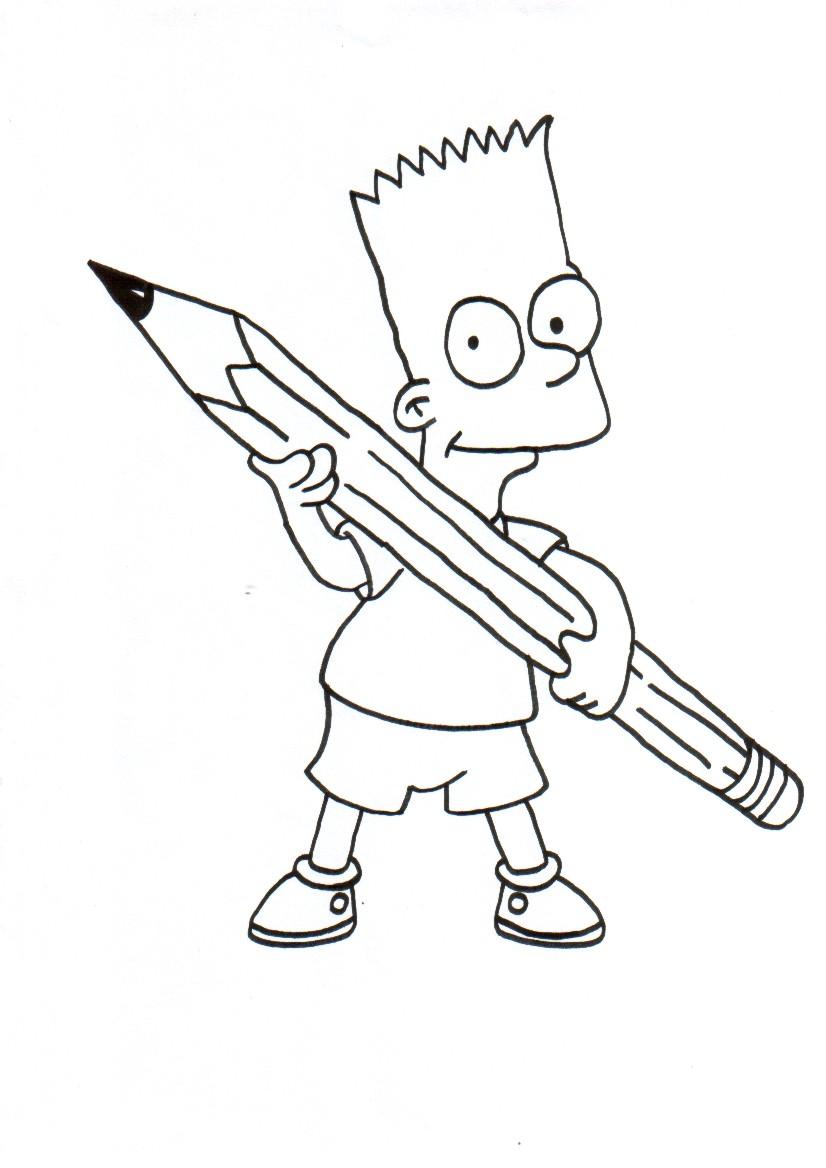 Bart Kolorowanki The Simpsons