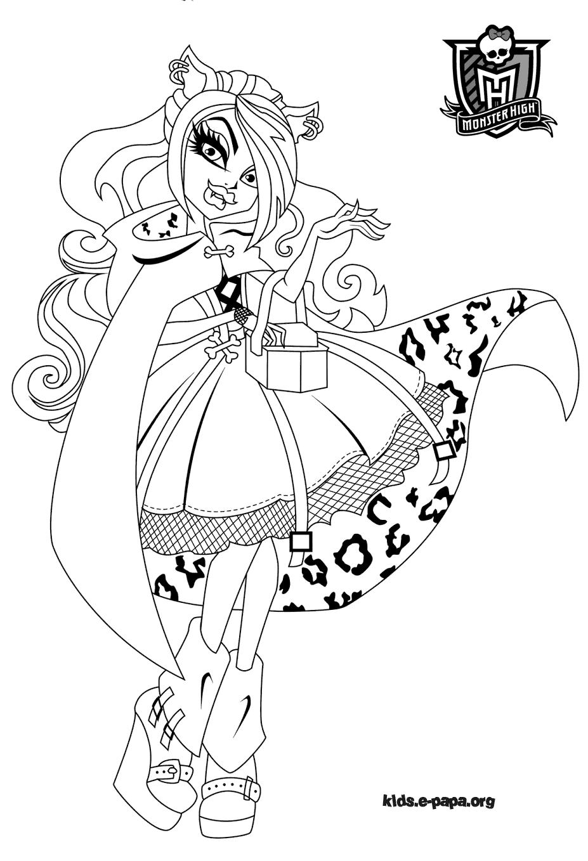 Clawdeen Wolf Kolorowanki Monster High