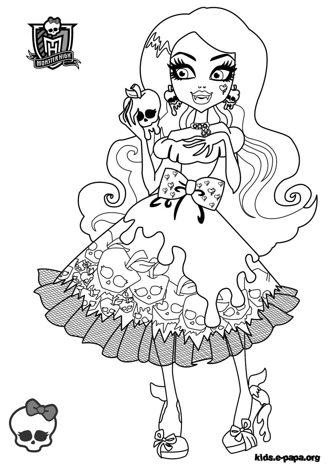 Draculaura Kolorowanki Monster High