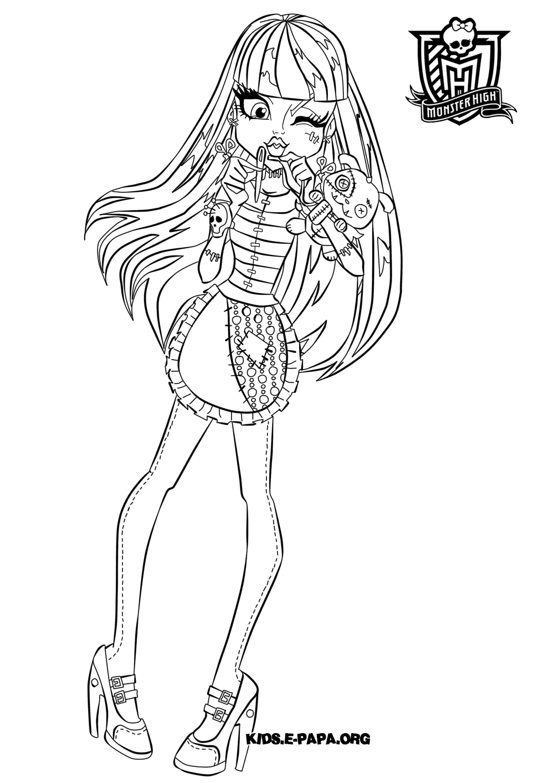 Frankie Stein Kolorowanki Monster High