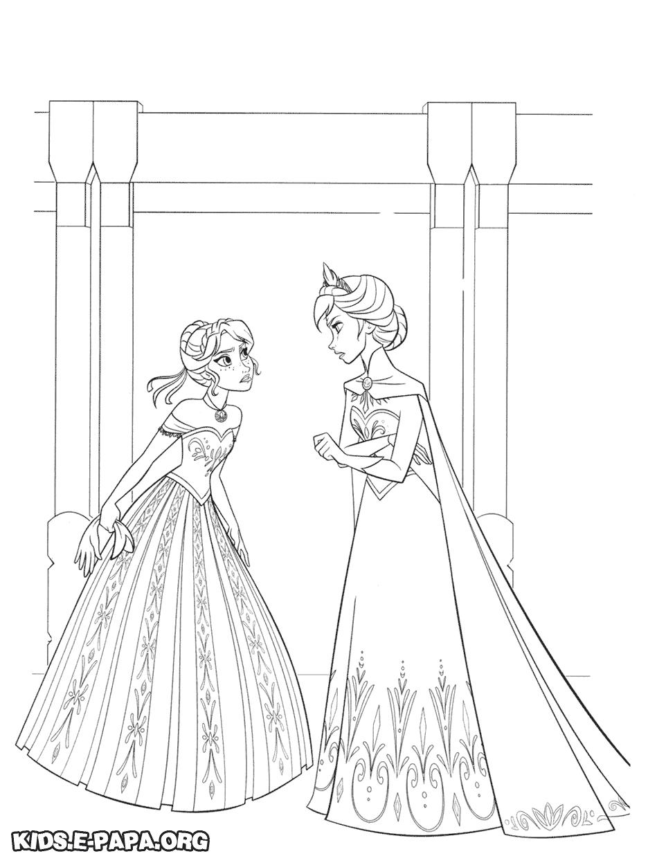 Elsa i Anna Kolorowanki Kolorowanki Kraina lodu