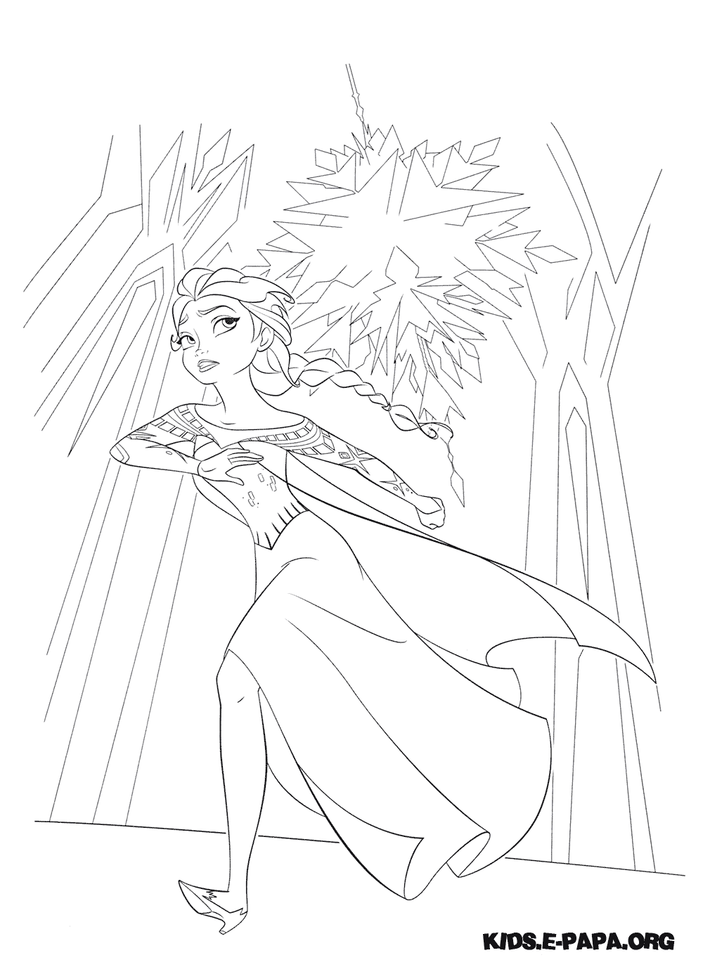 coloring page frozen online gallery
