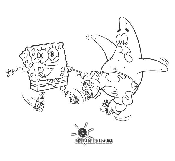Patryk Rozgwiazda i SpongeBob Kolorowanki SpongeBob Kanciastoporty