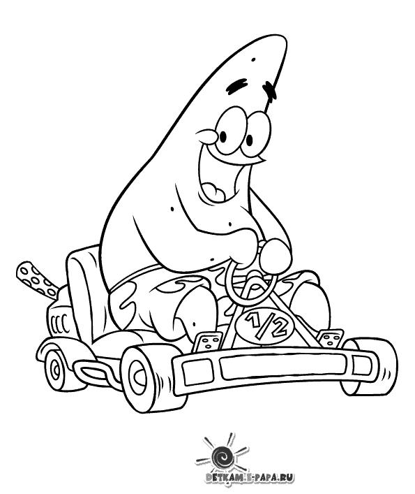Patryk Kolorowanki SpongeBob Kanciastoporty